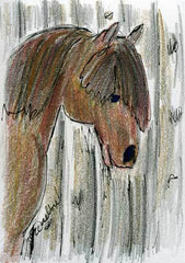 Original ACEO drawing Gunilla Wachtel