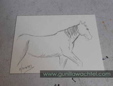 Daily Drawing 13 - ACEO - Gunilla Wachtel