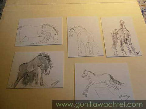 A few of my ACEO cards - Gunilla Wachtel