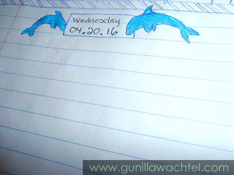 A page from my journal - Dolphin header - Kanweienea Kreations