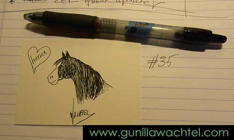 Mini Treasure 35. Drawing. Gunilla Wachtel
