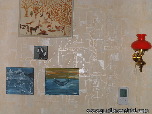 Gunilla Wachtel Artworks on display in collector's home