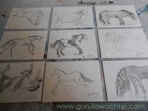 ACEO cards Originals Gunilla Wachtel