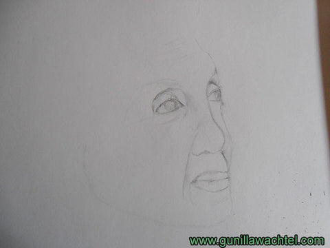 Pencil drawing Portrait Study Artwork in Progress