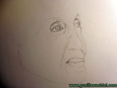 Sketch Study in Progress Drawing Portrait