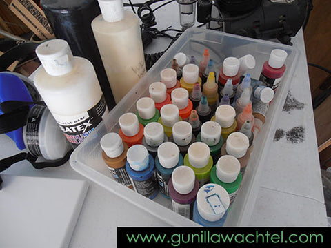 Some of my airbrush paints - Kanweienea Kreations