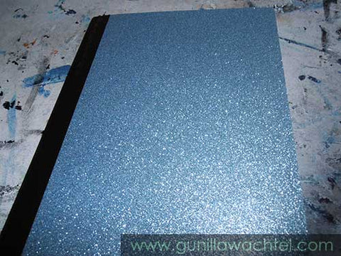 Blue Sparkly Notebook - Kanweienea Kreations