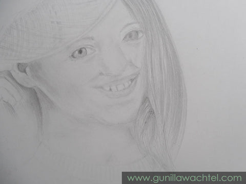Working on my people skills - Portrait Study - Gunilla Wachtel