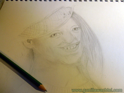 Young Girl Portrait Work in Progress - Gunilla Wachtel Art