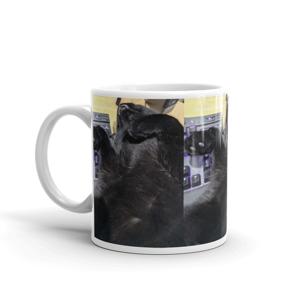 Cat Gaming Buddy Ceramic Mug Kanweienea Kreations
