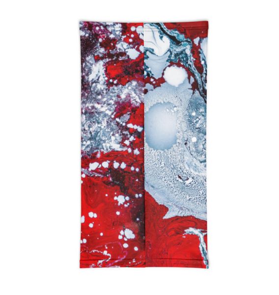 Red white and blue Neck Gaiter neck warmer bandana