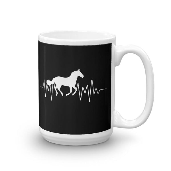 gifts for horse racer Horse heartbeat Mug
