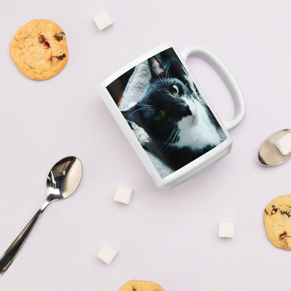 Tuxie the Tuxedo Cat Mug gifts for cat lovers