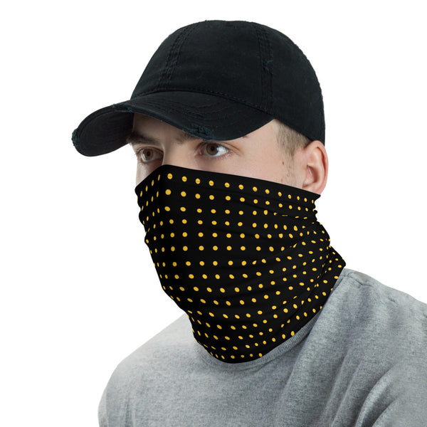 Black with yellow dots Neck Gaiter face cover