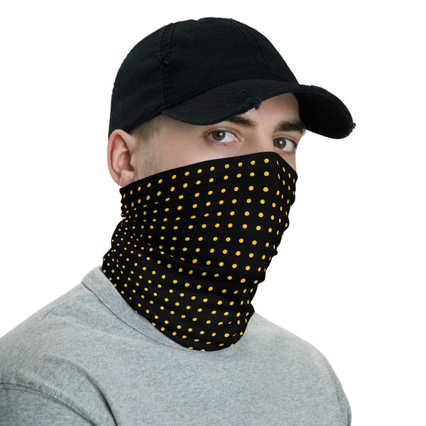 Black with yellow dots Neck Gaiter mask