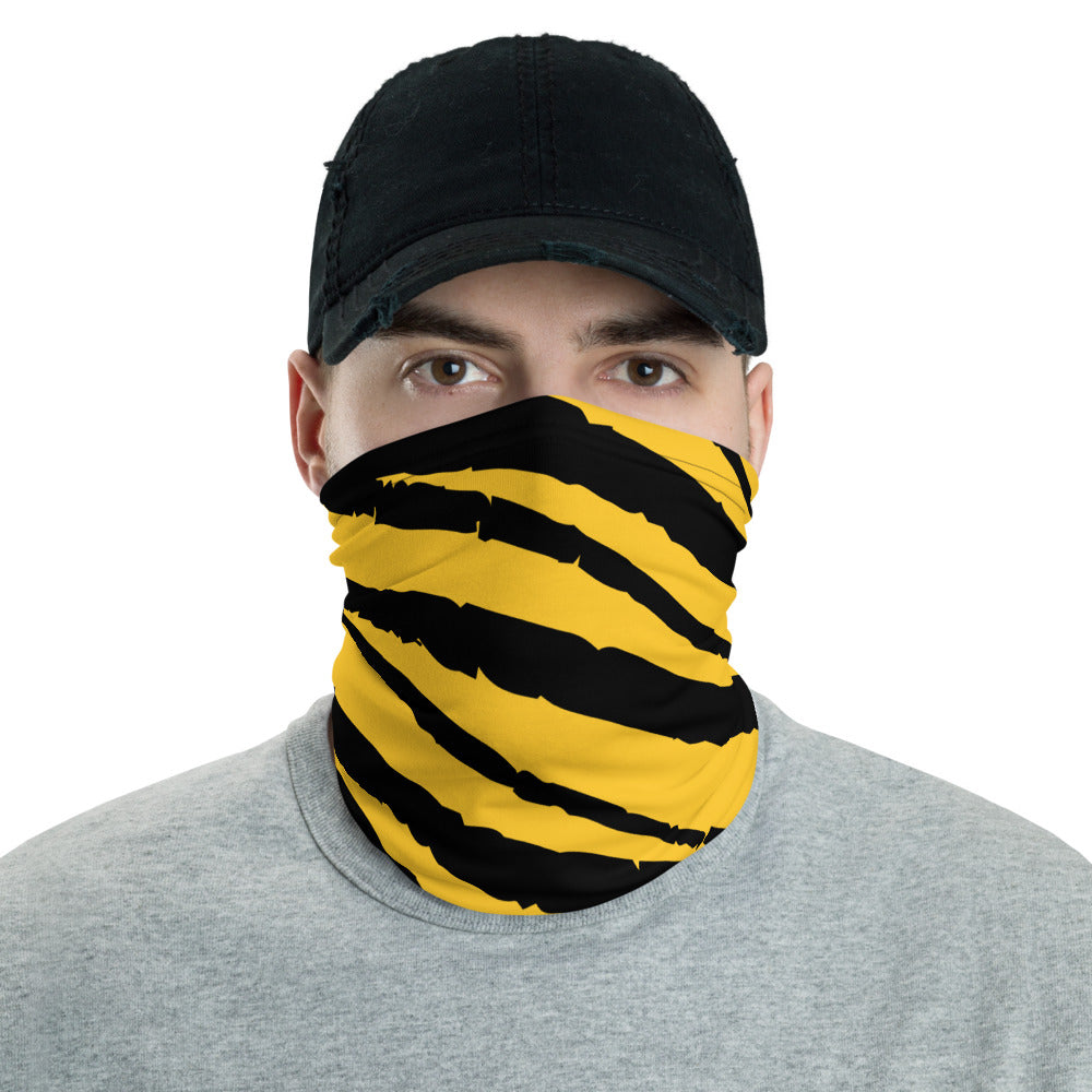 Pittsburgh Black and Yellow Face Cover Neck Gaiter