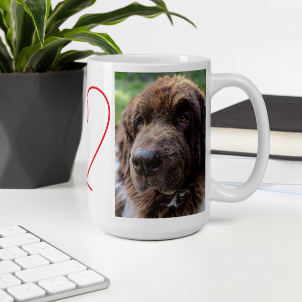 Cleo the Newfoundland Dog Landseer Mug newfie