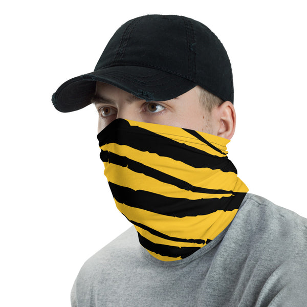 Black and Yellow Face Cover Neck Gaiter