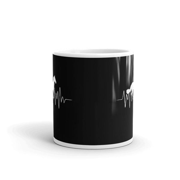 gift for horse lover Horse heartbeat Mug