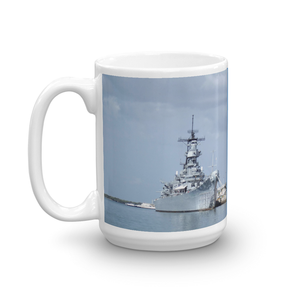 USS Missouri Pearl Harbor Oahu Hawaii Mug 15 Oz