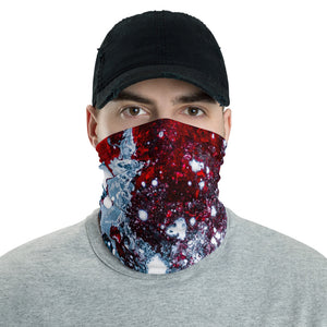 Patriotic red white and blue neck gaiter