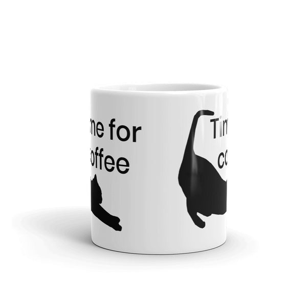 Time for coffee Cat Stretching Mug kitteh