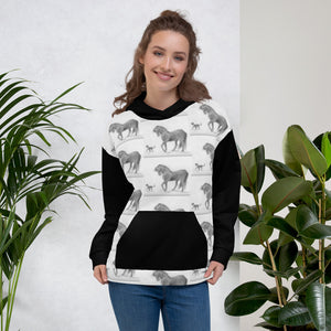 Horse and Cat All over Print Unisex Hoodie