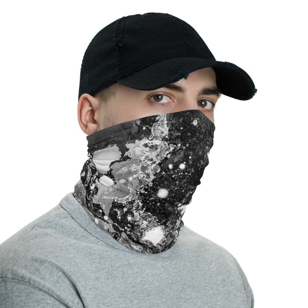 Black and white abstract Neck Gaiter Headband Neck warmer