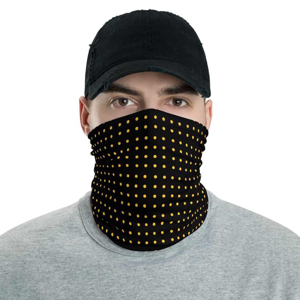 Black with yellow dots Neck Gaiter
