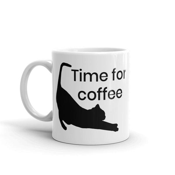 cat lover Time for coffee Cat Stretching Mug