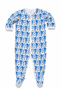Roller Rabbit Infant Footie Pajamas Blue Monkey