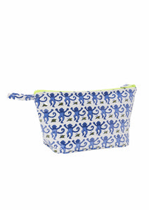 Roller Rabbit Toiletry Case Blue Monkey