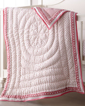 Load image into Gallery viewer, Roller Rabbit Baby Quilt Pink Hearts
