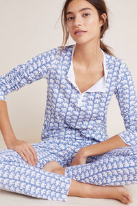Roller Rabbit Adult Pajamas Blue Hathi