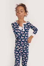 Load image into Gallery viewer, Roller Rabbit Kids Pajamas Navy Pond Royals
