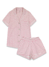 Load image into Gallery viewer, Roller Rabbit Polo PJ Set Pink Hearts