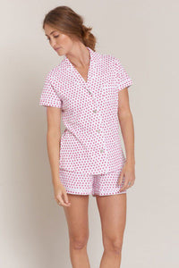 Roller Rabbit Polo PJ Set Pink Hearts