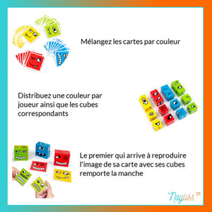 CUBE SMILE - Puzzle des expressions - Nayliss™