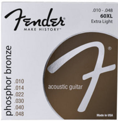 Fender 60XL Phospohor Extra Light Bronze Acoustic Strings .010-.048