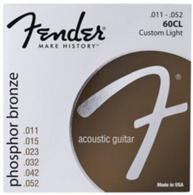 Fender 60CL Phosphor Bronze .011-.052 Light Gauge Acoustic Guitar Strings
