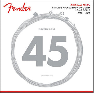 Fender .045-.100 Medium Light Long Scale Pure Nickel Electric Bass Strings