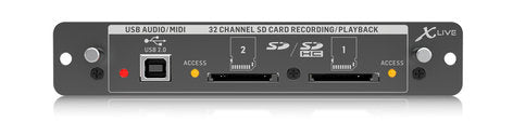 Behringer XLIVE SD / USB Recording Expansion Card for the X32 Digital Mixer