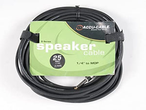 "Accu-Cable 25' 1/4"" to Banana Plug (MDP) (14 Guage)"