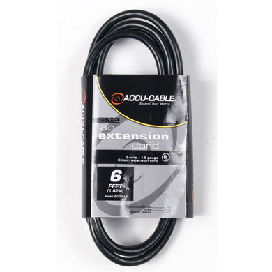 Accu-Cable 6' IEC Extension Jumper