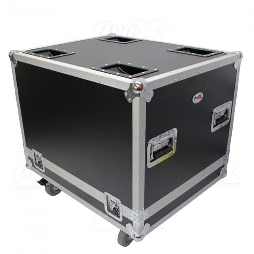 Pro X Flight Case for RCF SUB 8004-AS & RCF SUB 708-AS II Speakers W/ 4 In. Wheels