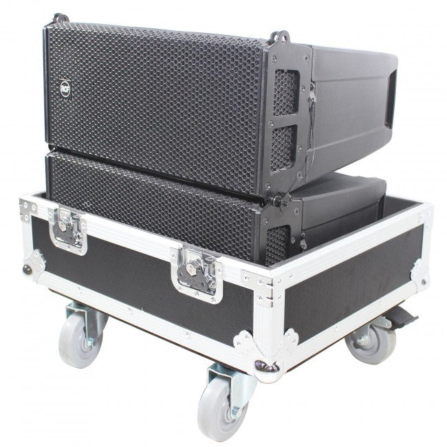Pro X Flight Case for 2 RCF HDL6-A HDL26-A Line Array Speakers W/Wheels