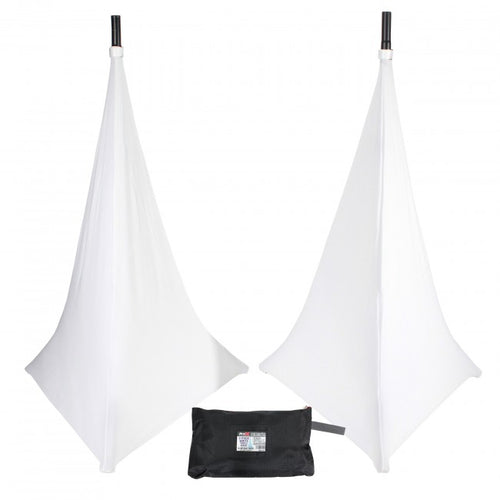 Pro X 3 Sided White Scrim for Speaker Tripod or Lighting Stand - 2 Pack