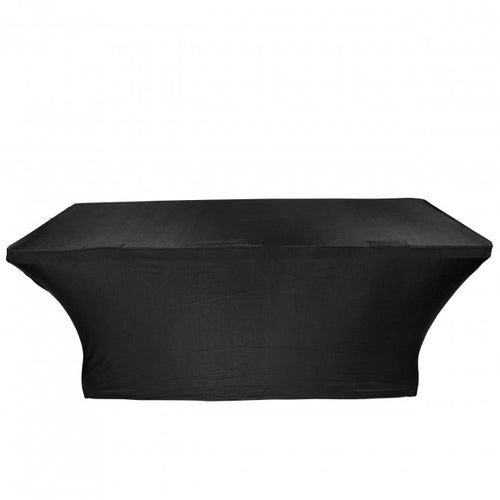 Pro X 6 Ft. Open Back Spandex Table Scrim - Black