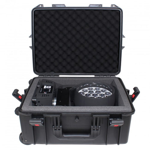 Pro X Medium Universal Watertight Case W/ Extendable Handle, Wheels and Pluck-N-Pak Foam
