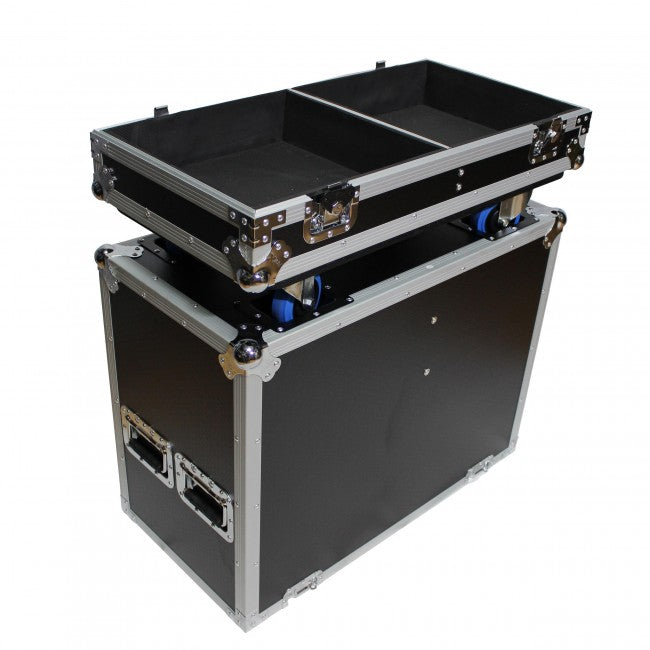 Pro X Universal Dual ATA Speaker Flight Case Fits Two of Most 15 Inch Speakers